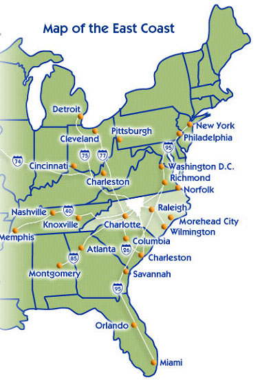 East Coast Introduction - East Coast Tours & Travel Vacation ... MAP OF USA EAST COAST